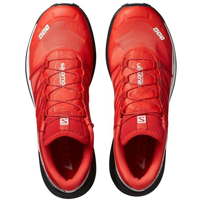 Salomon S-Lab Wings 8 - running shoes in the field (red)