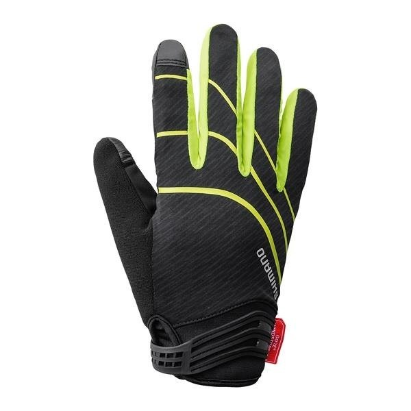Shimano Windstopper Insulated Glove - Men's cycling rękawiczko (black and yellow)